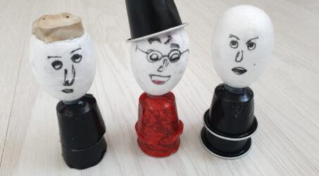 יצירות לילדים – בובות מקפסולות קפה
